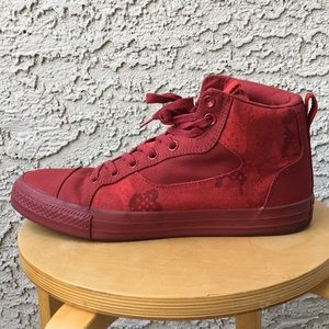 Converse Shoes - Converse 11.5 men's red high tops